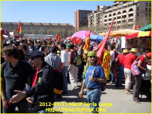 Manif Per La Lenga Tolosa 31-03-2012