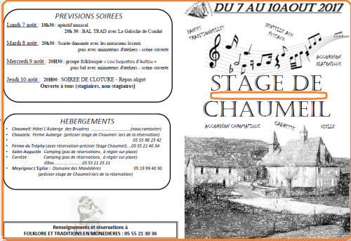 2017 0807 chaumeil stages